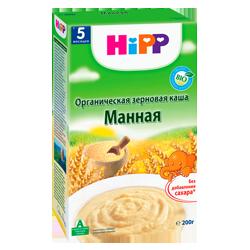 Каша Hipp органическая зерновая манная, 200 г.