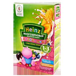 Каша молочная Heinz Любопышки многозерновая слива, абрикос, черника