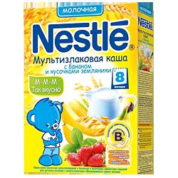 Каша Нестле мультизлаковая банан земляника