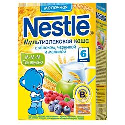 Каша Nestle мультизлаковая с яблоком, черникой и малиной