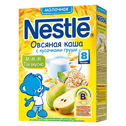 Каша Nestle овсяная с кусочками груши