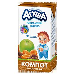 Компот Агуша Курага-изюм-яблоко
