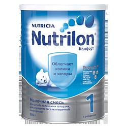Молочная смесь Nutrilon PronutriPlus Комфорт 1, 900 г