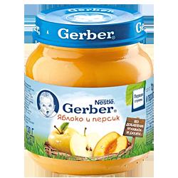 Пюре Gerber Яблоко и персик