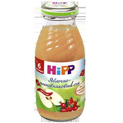 Сок Hipp Яблочно-шиповниковый, 200 г.