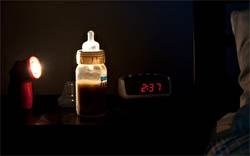 Приготовление детской смеси на ночь