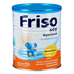 Безлактозная смесь Friso soy Фрисосой 400 г