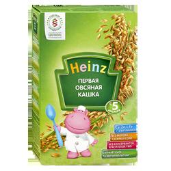 Каша безмолочная Heinz первая овсяная с пребиотиками, 180 г.