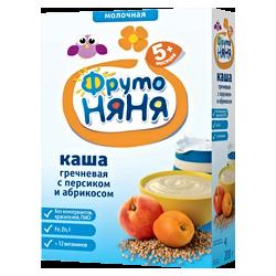 Каша Фрутоняня гречневая молочная с персиком и абрикосом