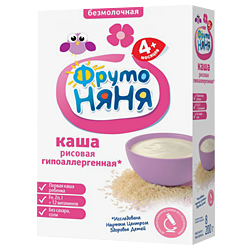 Каша Фрутоняня рисовая без молока гипоаллергенная