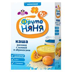 Каша Фрутоняня рисовая молочная с тыквой и абрикосом