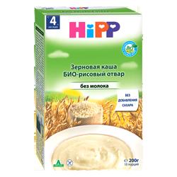 Каша Hipp безмолочная БИО-рисовый отвар, 200 г.
