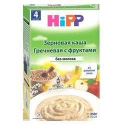 Каша Hipp гречневая безмолочная с фруктами, 250 г.