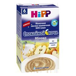 Каша Hipp Спокойной ночи БИО молочная овсяно-пшеничная Яблоко, 250 г.