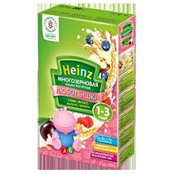 Каша молочная Heinz Любопышки многозерновая фруктово-йогуртная малина, черника