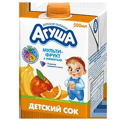 Сок Агуша Мультифрукт с мякотью